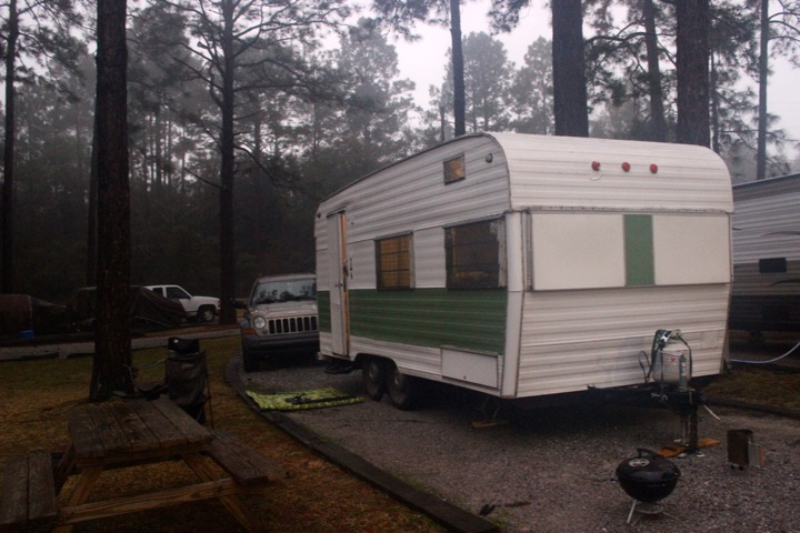 Camping in the fog